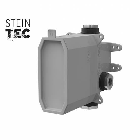 """STEINBERG - STEINBOX Podomietkové montážne teleso 1/2 """"pre vaňové/ sprchové batérie, kartáčovaný nikel (010 2110 BN)"""
