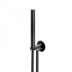 STEINBERG - Sprchová súprava, čierna mat (držiak ručnej sprchy s prívodom vody, ručná sprcha, plastová hadica) (100 1670 S)