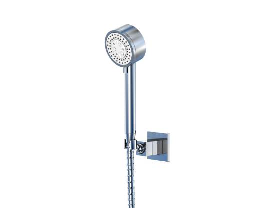STEINBERG - Sprchová souprava, chrom (nástěnný držák, ruční sprcha 3 funkce, hadice) (120 1626)