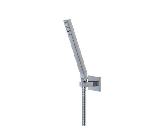STEINBERG - Sprchová souprava, chrom (nástěnný držák, ruční sprcha, kovová hadice) (135 1650)