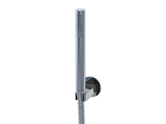 STEINBERG - Sprchová souprava, chrom (nástěnný držák, ruční sprcha, kovová hadice) (170 1650)