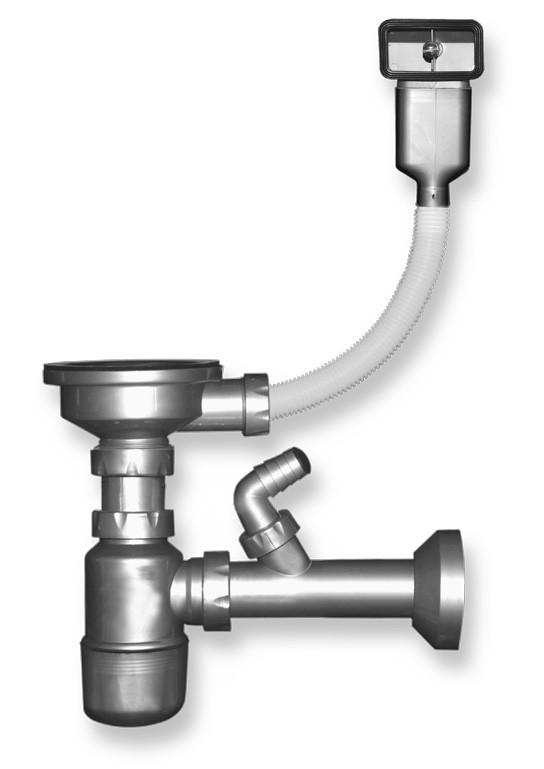 VÝPRODEJ VÝPRODEJ - Sifón drezový otvor 89 mm prepad z drezu plast (NSP50VYP)