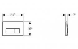 AKCE/SET/GEBERIT - Duofix Sada pre závesné WC 458.103.00.1 + tlačidlo DELTA51 BIELE + WC CERSANIT CLEAN ON URBAN HARMONY + SEDADLO (458.103.00.1 51BI HA1), fotografie 2/8