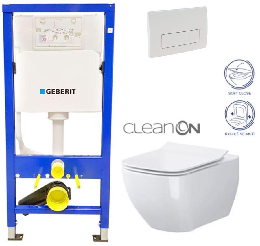 AKCE/SET/GEBERIT - Duofix Sada pre závesné WC 458.103.00.1 + tlačidlo DELTA51 BIELE + WC CERSANIT CLEAN ON METROPOLITAN + SEDADLO (458.103.00.1 51BI ME1)