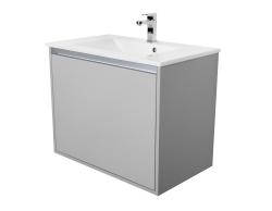 VÝPRODEJ - Amsterdam umývadlová skrinka šírky 75, 1x šuplík, svetlosivá + umývadlo (CA.U1B.111.075UM)