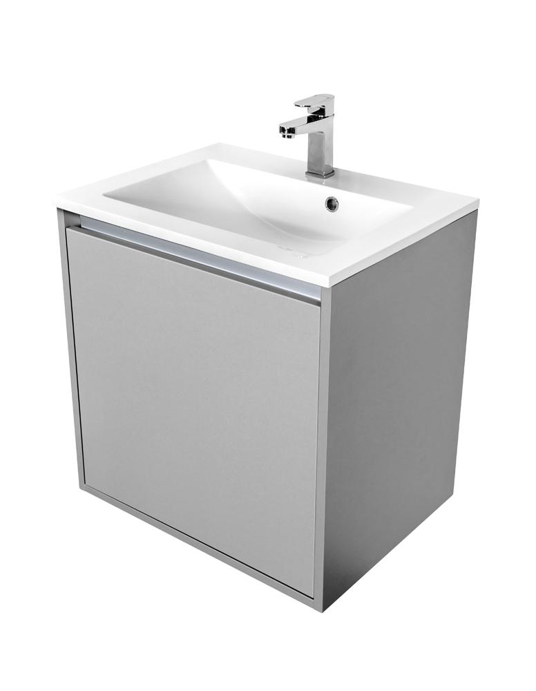 VÝPRODEJ - Amsterdam umývadlová skrinka šírky 60, 1x šuplík, svetlosivá + umývadlo (CA.U1B.111.060UM)