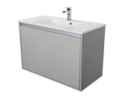 CEDERIKA - Amsterdam umývadlová skrinka šírky 90, 1x šuplík, svetlosivá + umývadlo (CA.U1B.111.090UM)