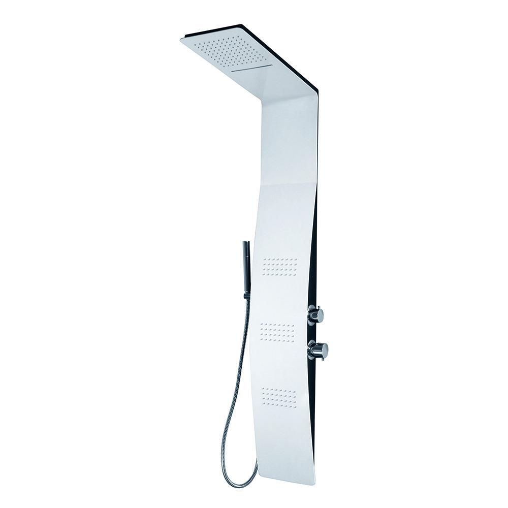 Aquatek - Bermuda hydromasážní sprchový panel, způsob montáže do rohu, baterie termostatická (Bermuda-275)
