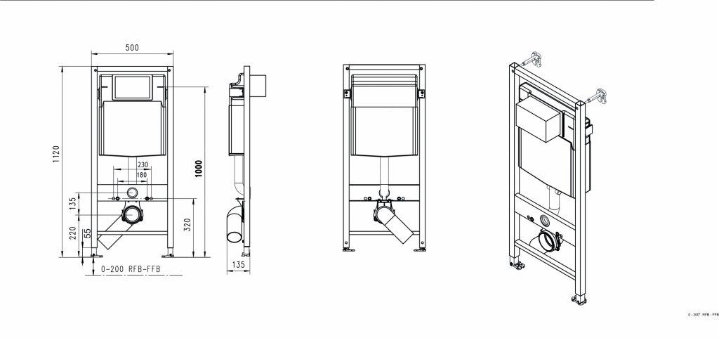 JOMOTech modul pre závesné WC s bielou doskou + WC CERSANIT ARTECO CLEANON + SEDADLO (174-91100900-00 AT1)