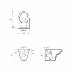 AKCE/SET/JOMO - SET JOMO Duofix modul pro závěsné WC + tlačítko + montážní sada + sedátko + WC CERSANIT CLEANON PARVA (174-91100900-00 PA2), fotografie 18/10