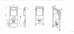 AKCE/SET/JOMO - SET JOMO Duofix modul pro závěsné WC + tlačítko + montážní sada + sedátko + WC CERSANIT CLEANON PARVA (174-91100900-00 PA2), fotografie 8/10