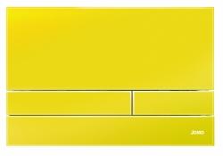 JOMO - TLAČÍTKO EXCLUSIVE 2.1 RÁMEČEK CHROM-LESK 2.0/SKLO ZÁŘIVĚ ŽLUTÉ (167-41001023-00)