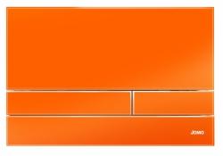 JOMO - TLAČÍTKO EXCLUSIVE 2.1 RÁMEČEK CHROM-LESK 2.0/SKLO ORANŽOVÉ (167-41002001-00)