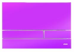 JOMO - TLAČÍTKO EXCLUSIVE 2.1 RÁMEČEK CHROM-LESK 2.0/SKLO RŮŽOVÉ (167-41004006-00)