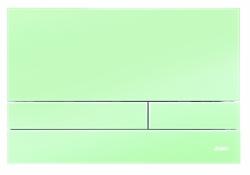 JOMO - TLAČÍTKO EXCLUSIVE 2.1 RÁMEČEK CHROM-LESK 2.0/SKLO ZELENÉ SATIN (167-41001261-00)