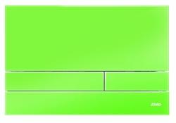 JOMO - TLAČÍTKO EXCLUSIVE 2.1 RÁMEČEK CHROM-LESK 2.0/SKLO ZÁŘIVĚ ZELENÉ (167-41001260-00)