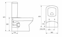 SET PURE (WC misa+nádržka sedadlo Soft-close+ventily skrutky+tesnenia) (SET-PURE02), fotografie 14/13