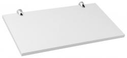 SAPHO - MDF polica z úchytkami 556x315x18 mm, biela lesk (PB060)