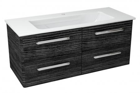 SAPHO - PURA umývadlová skrinka 117x50,5x48,3cm, graphite line (PR123)