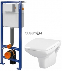 CERSANIT nádržka AQUA 02 bez tlačidla + WC CERSANIT CLEANON CARINA + SEDADLO (S97-063 CA1)