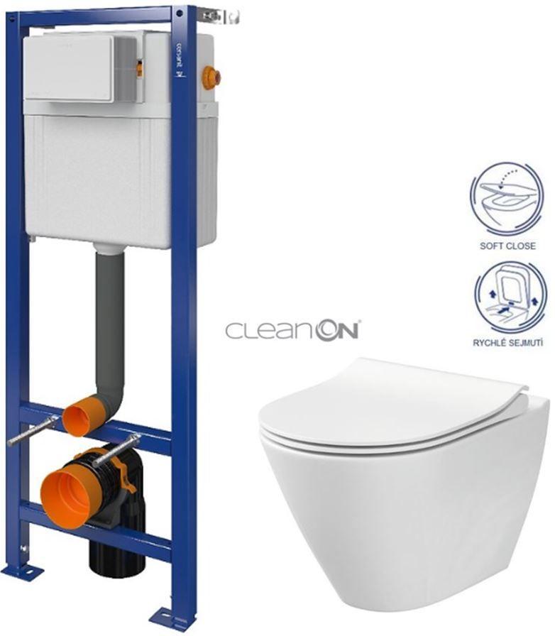 CERSANIT nádržka AQUA 02 bez tlačidla + WC CERSANIT CLEANON CITY S97-063 CI1