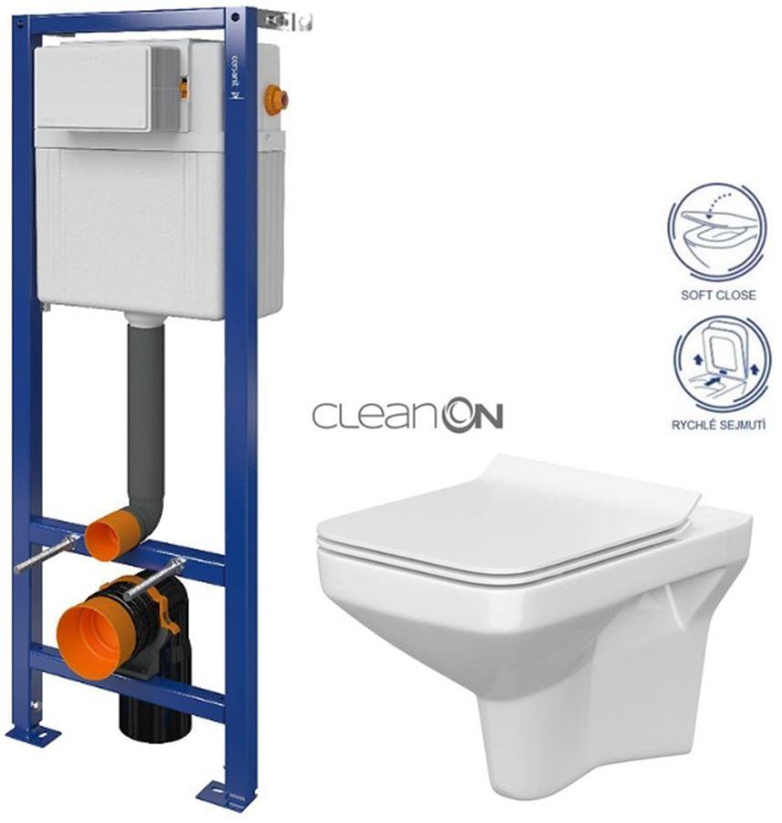 CERSANIT nádržka AQUA 02 bez tlačidla + WC CERSANIT CLEANON COMO + SEDADLO S97-063 CO1