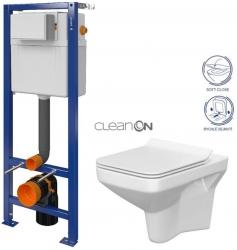 CERSANIT nádržka AQUA 02 bez tlačidla + WC CERSANIT CLEANON COMO + SEDADLO (S97-063 CO1)