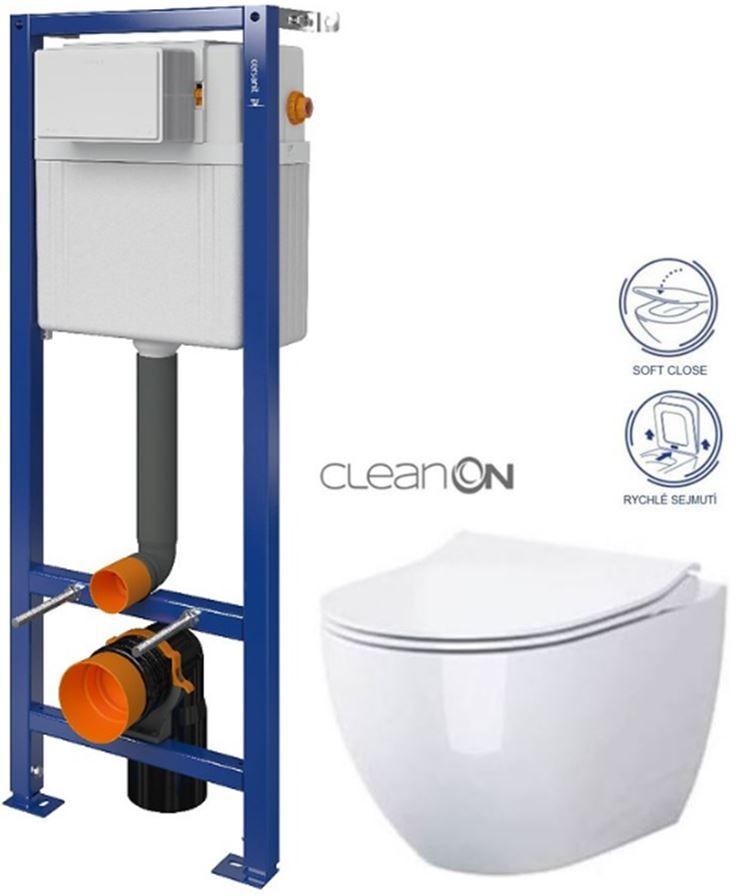 CERSANIT nádržka AQUA 02 bez tlačidla + WC CERSANIT ZEN CLEANON + SEDADLO S97-063 HA1