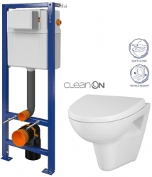 CERSANIT nádržka AQUA 02 bez tlačidla + WC CERSANIT CLEANON PARVA + SEDADLO (S97-063 PA1)