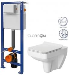 CERSANIT nádržka AQUA 02 bez tlačidla + WC CERSANIT CLEANON SPLENDOUR + SEDADLO (S97-063 SP1)