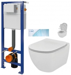 CERSANIT nádržka AQUA 02 bez tlačidla + WC Ideal Standard Tesi so sedadlom SoftClose, AquaBlade (S97-063 TE1)