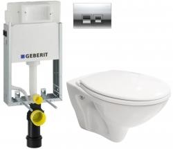 AKCE/SET/GEBERIT - SET KOMBIFIXBasic vrátane ovládacieho tlačidla DELTA 50 CR pre závesné WC CERSANIT MITO + SEDADLO (110.100.00.1 50CR MI1)
