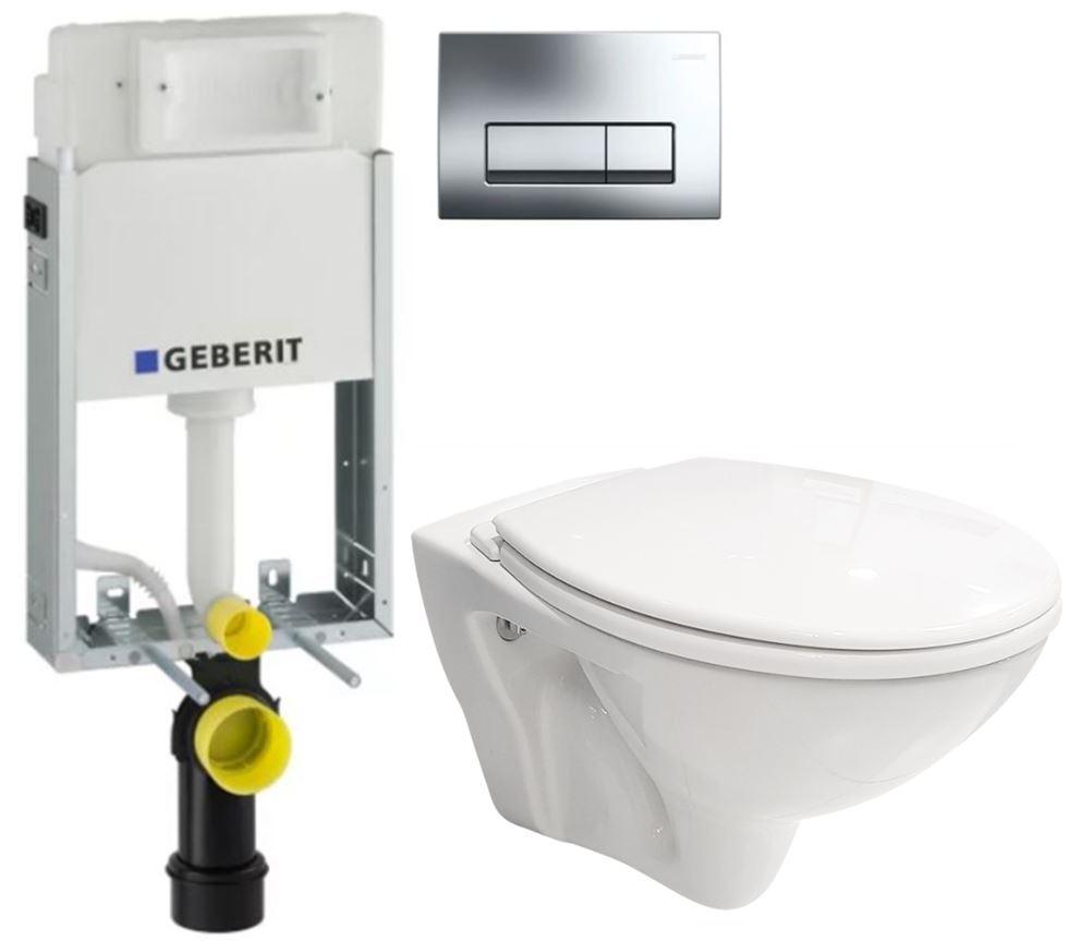 /SET/GEBERIT - SET GEBERIT - KOMBIFIXBasic včetně ovládacího tlačítka DELTA 51 CR pro závěsné WC MITO + SEDÁTKO (110.100.00.1 51CR MI1)