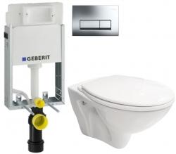 AKCE/SET/GEBERIT - SET GEBERIT - KOMBIFIXBasic včetně ovládacího tlačítka DELTA 51 CR pro závěsné WC MITO + SEDÁTKO (110.100.00.1 51CR MI1)