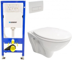 AKCE/SET/GEBERIT - SET Duofix Sada pre závesné WC 458.103.00.1 + tlačidlo DELTA51 BIELE + WC CERSANIT MITO + SEDADLO (458.103.00.1 51BI MI1)