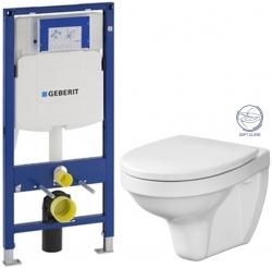 AKCE/SET - SET Duofix pre závesné WC 111.300.00.5 bez ovládacej dosky + WC CERSANIT DELFI + SOFT SEDADLO (111.300.00.5 de2)