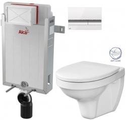AKCE/SET - SET Renovmodul - předstěnový instalační systém + tlačítko M1720-1 + WC CERSANIT DELFI + SOFT SEDÁTKO (AM115/1000 M1720-1 DE2)