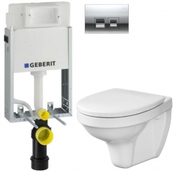 AKCE/SET/GEBERIT - SET KOMBIFIXBasic vrátane ovládacieho tlačidla DELTA 50 CR pre závesné WC CERSANIT DELFI + SEDADLO (110.100.00.1 50CR DE1)