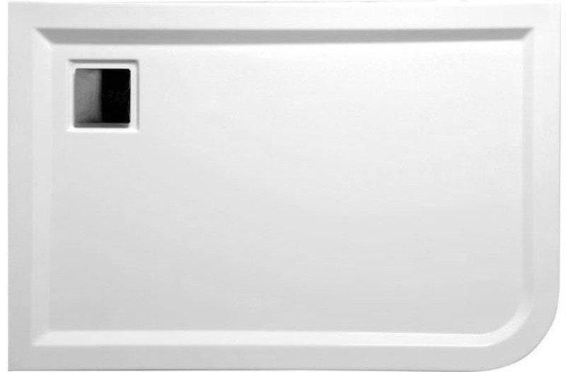 POLYSAN - LUNETA sprchová sprchová vanička akrylátová, obdĺžnik 120x80x4cm, ľavá, biela (53511)