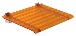 SAPHO - LEO sprchové sedátko 40x31cm, oranžová (5368A)