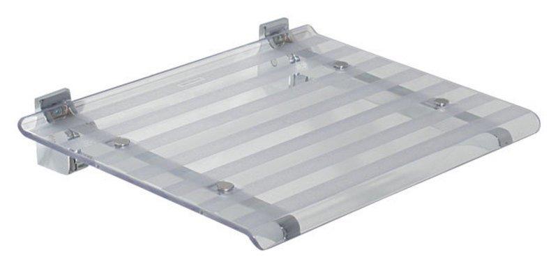 SAPHO - LEO sprchové sedátko 40x31cm, číra (5368T)