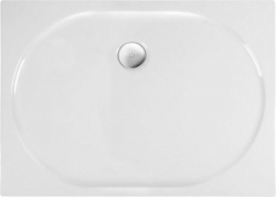 POLYSAN - ELIPSA sprchová vanička akrylátová, obdĺžnik 120x90x4cm, biela (55511)
