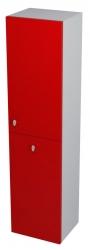 SAPHO - AILA skrinka vysoká s košom 35x140x30cm, pravá, červená/strieborná (55672)