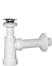 SAPHO - Umývadlový sifón, nerezová výpusť 5/4', zátka retiazka, odpad 40mm, plast (CV1011)