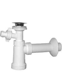 SAPHO - Umývadlový sifón,nerezová výpusť 5/4', odpad 40mm s odbočkou, plast (CV1013)