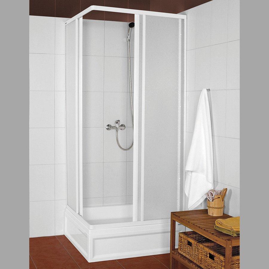 AQUALINE - KNS štvorcová sprchová zástena 900x900mm, biela, polystyren (KNS-C-90)