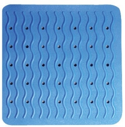 RIDDER - PLAYA podložka 54x54cm, s protišmykom, kaučuk, modrá (68403), fotografie 2/3