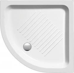 GSI - Keramická sprchová vanička, štvrťkruh 80x80x11cm, R550 (448011)