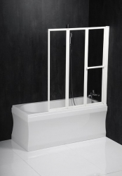 POLYSAN - LANKA3 pneumatická vaňová zástena 1210mm, biely rám, číre sklo (35117)