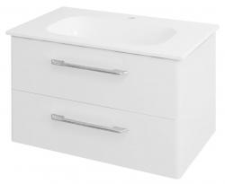 SAPHO - PURA umývadlová skrinka 77x50,5x48,5cm, biela (PR081)